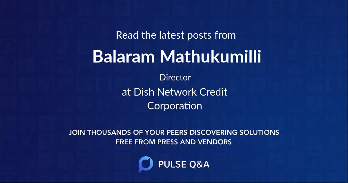 Balaram Mathukumilli