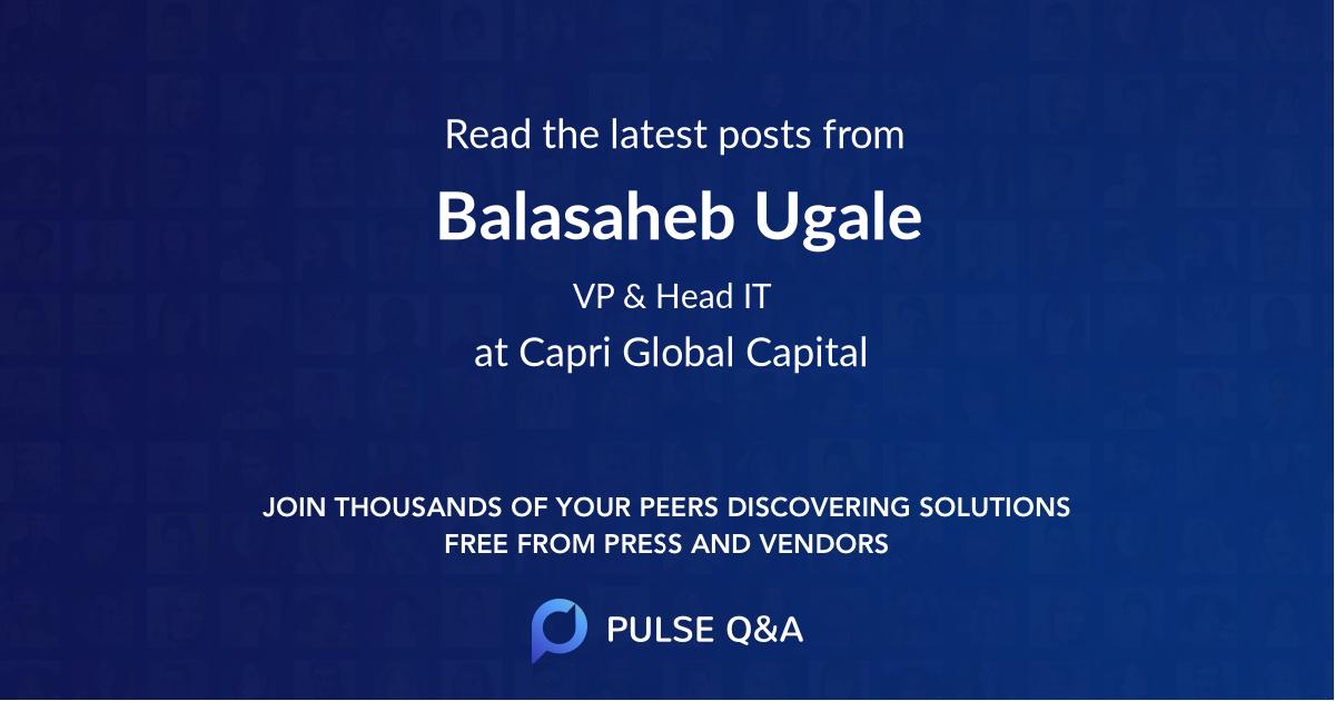 Balasaheb Ugale