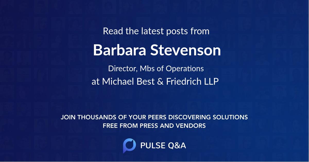 Barbara Stevenson
