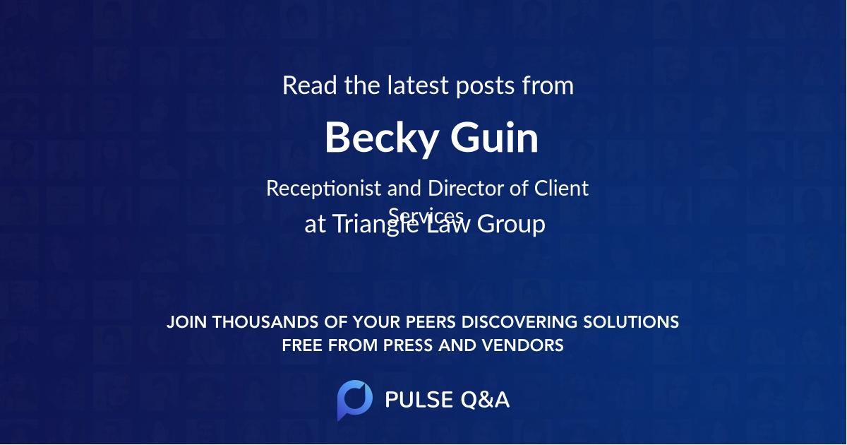 Becky Guin