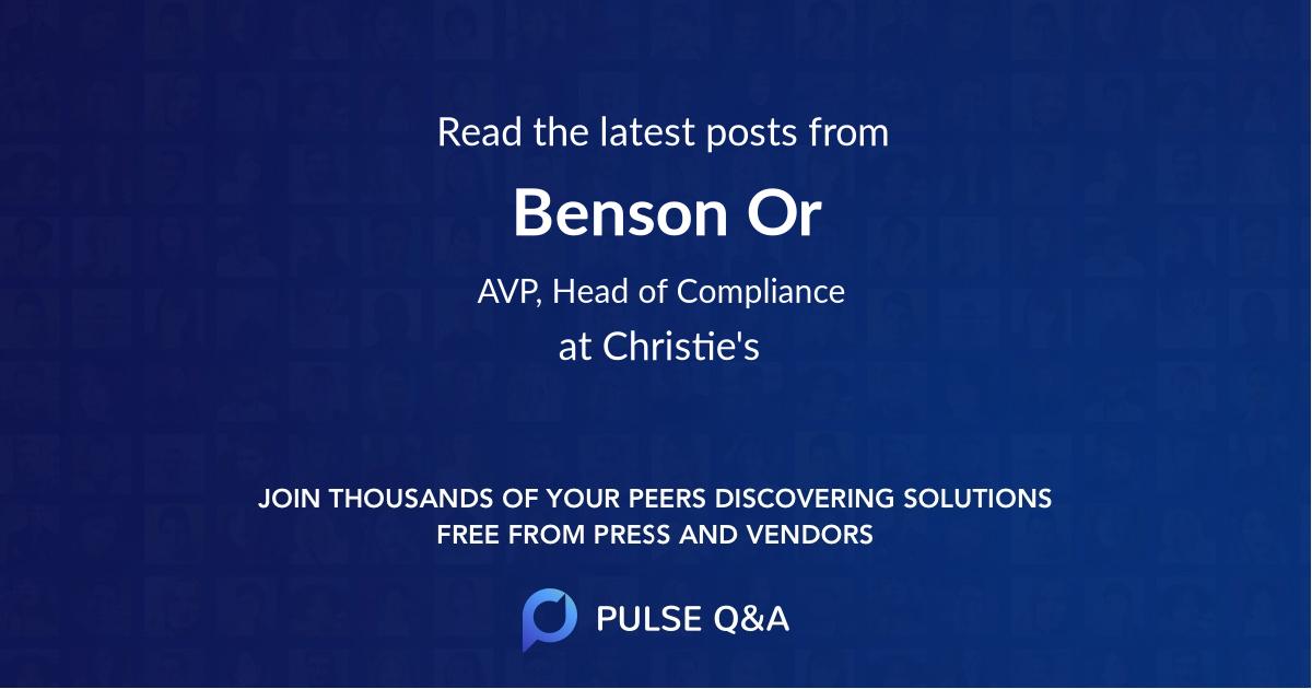 Benson Or