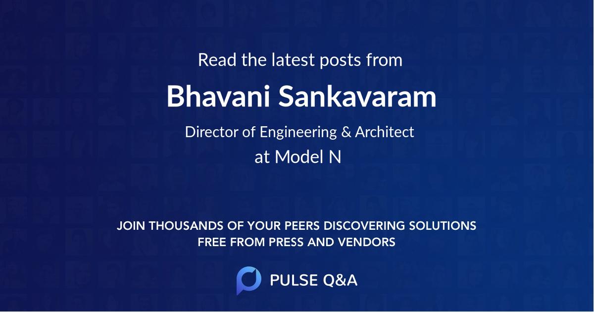 Bhavani Sankavaram