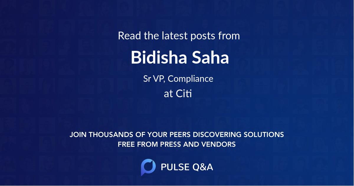 Bidisha Saha