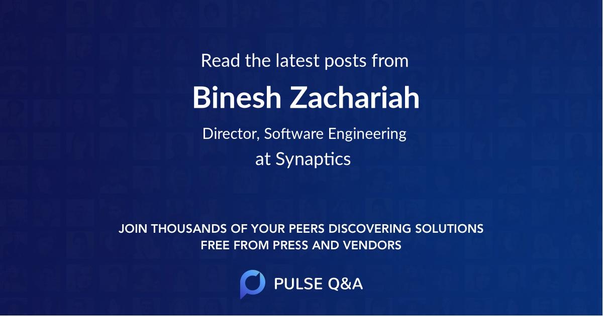 Binesh Zachariah