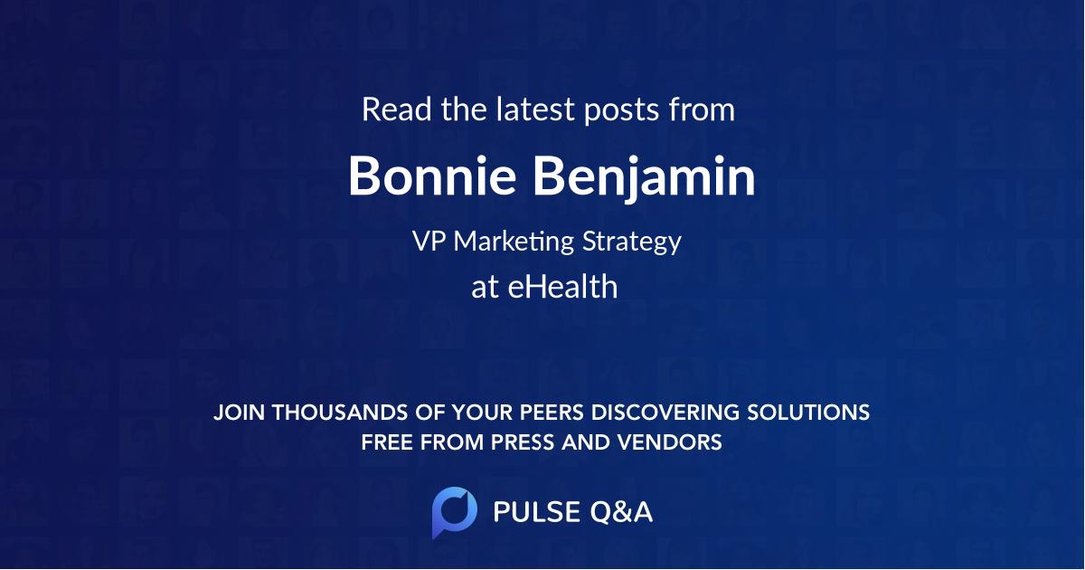 Bonnie Benjamin
