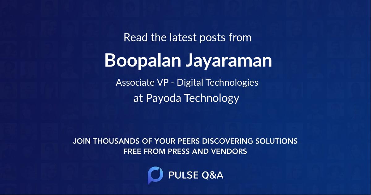 Boopalan Jayaraman
