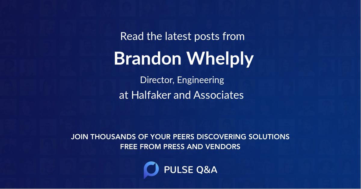 Brandon Whelply