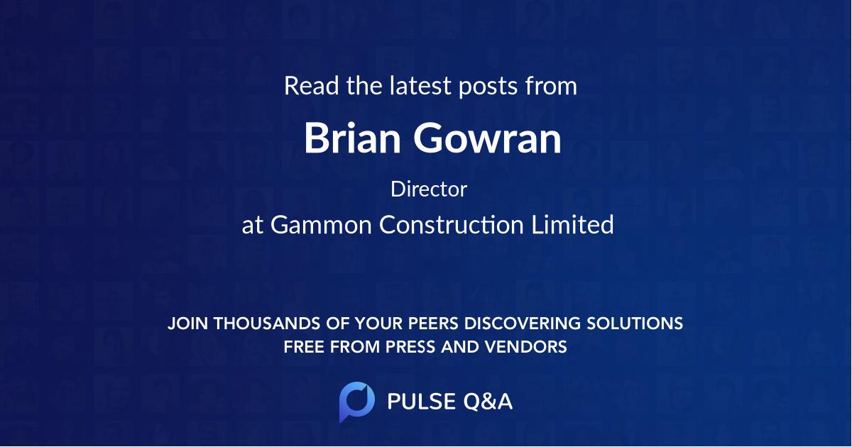 Brian Gowran