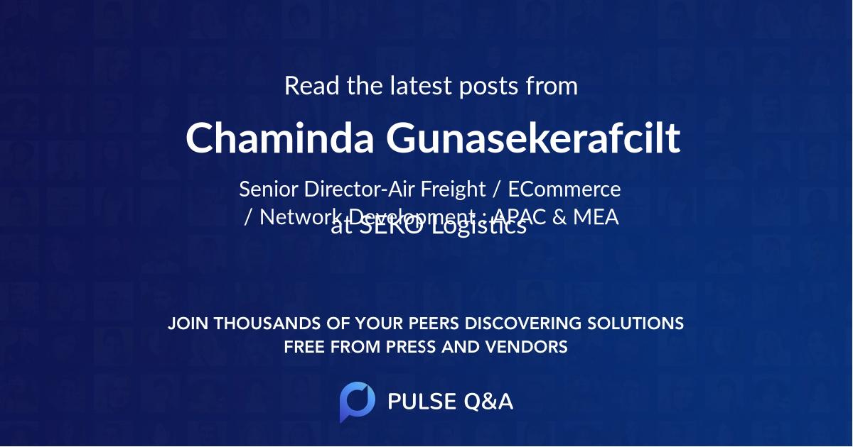 Chaminda Gunasekerafcilt