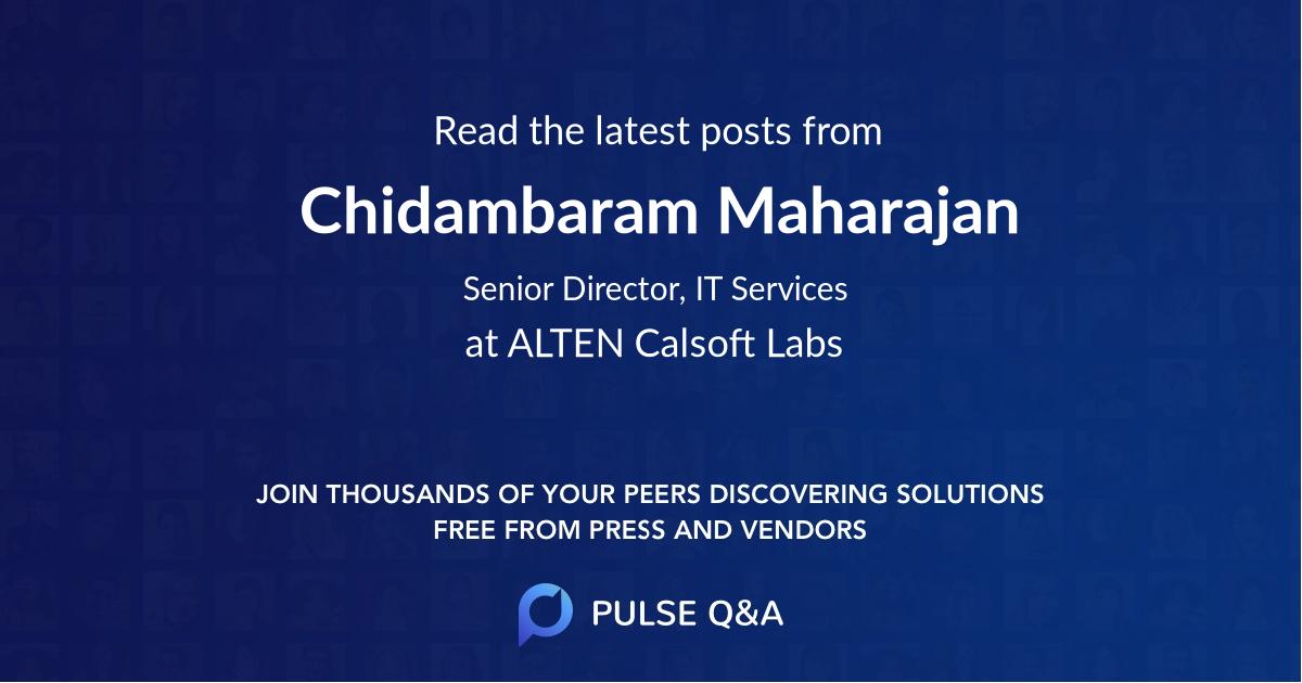 Chidambaram Maharajan