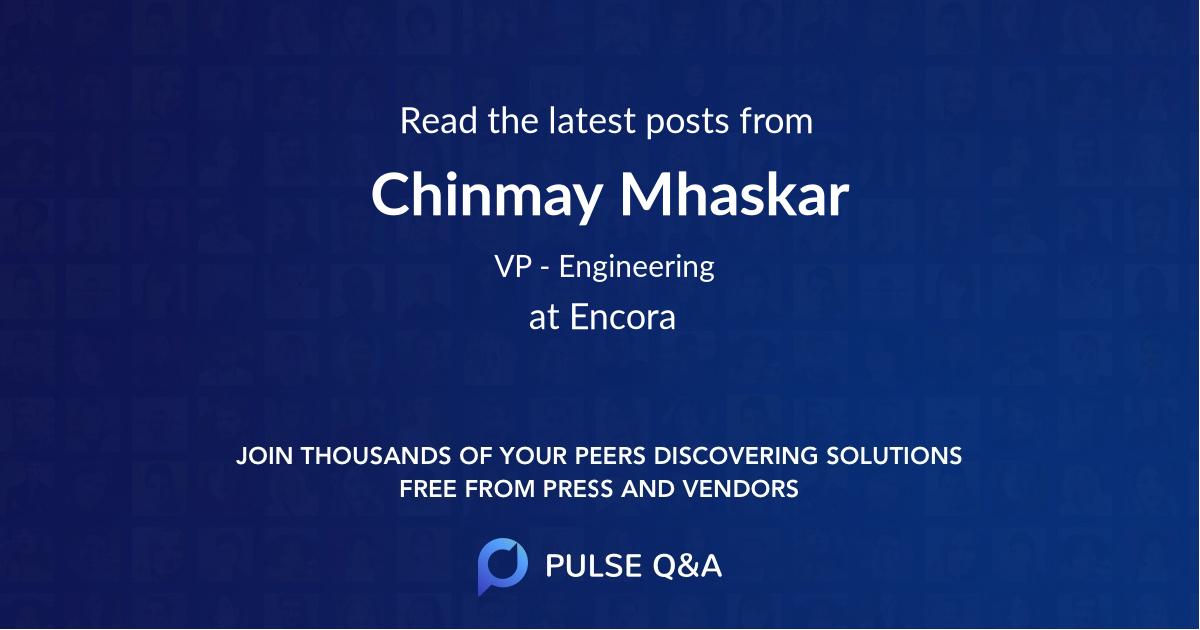 Chinmay Mhaskar