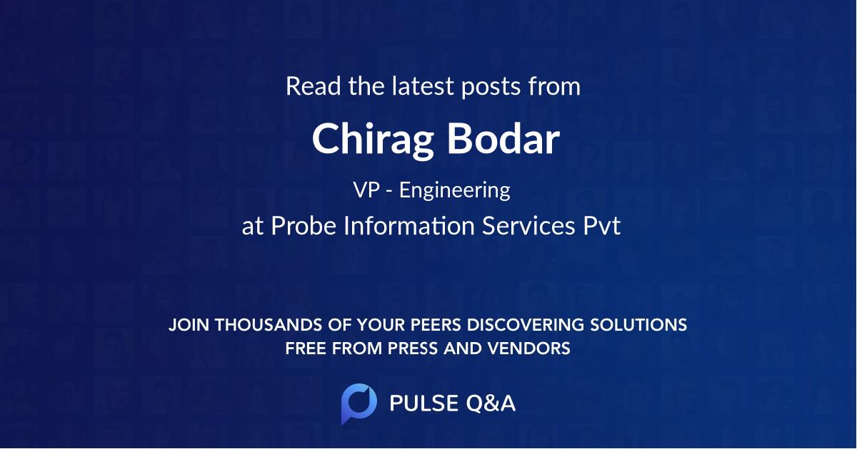 Chirag Bodar
