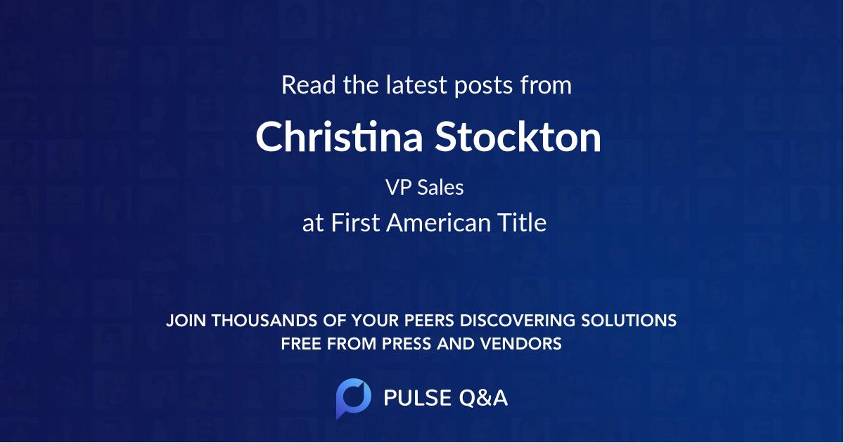 Christina Stockton