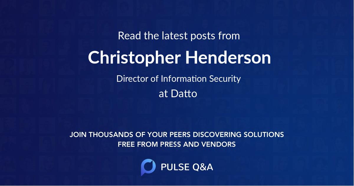 Christopher Henderson