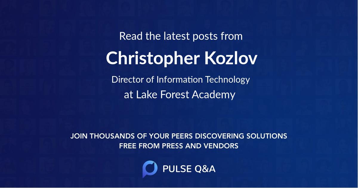 Christopher Kozlov