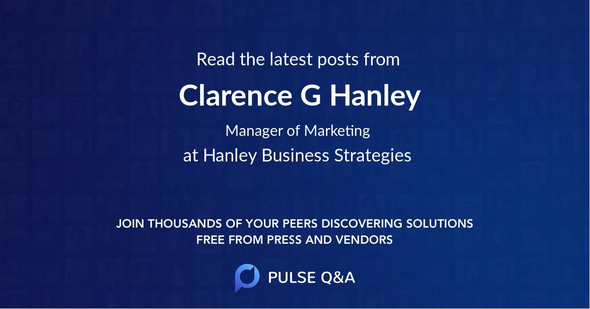 Clarence G Hanley