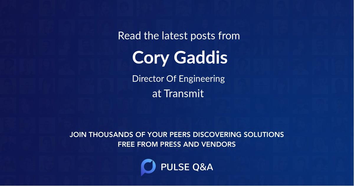 Cory Gaddis