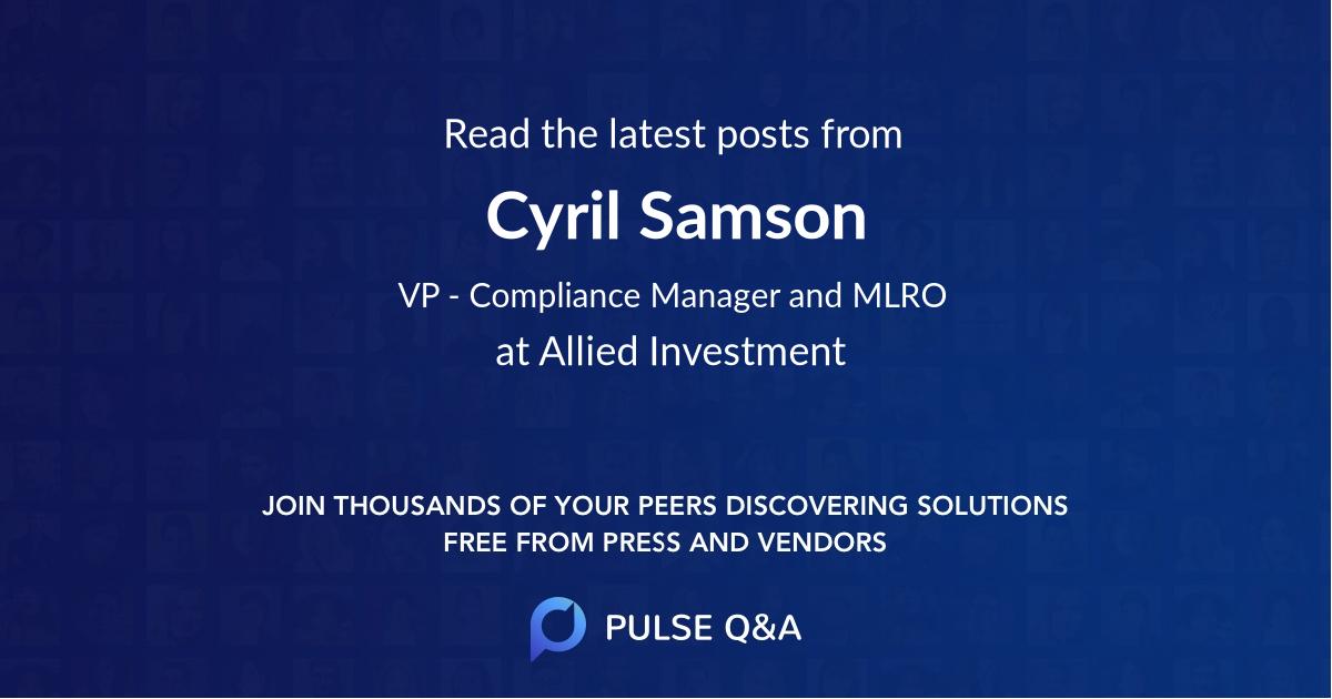 Cyril Samson