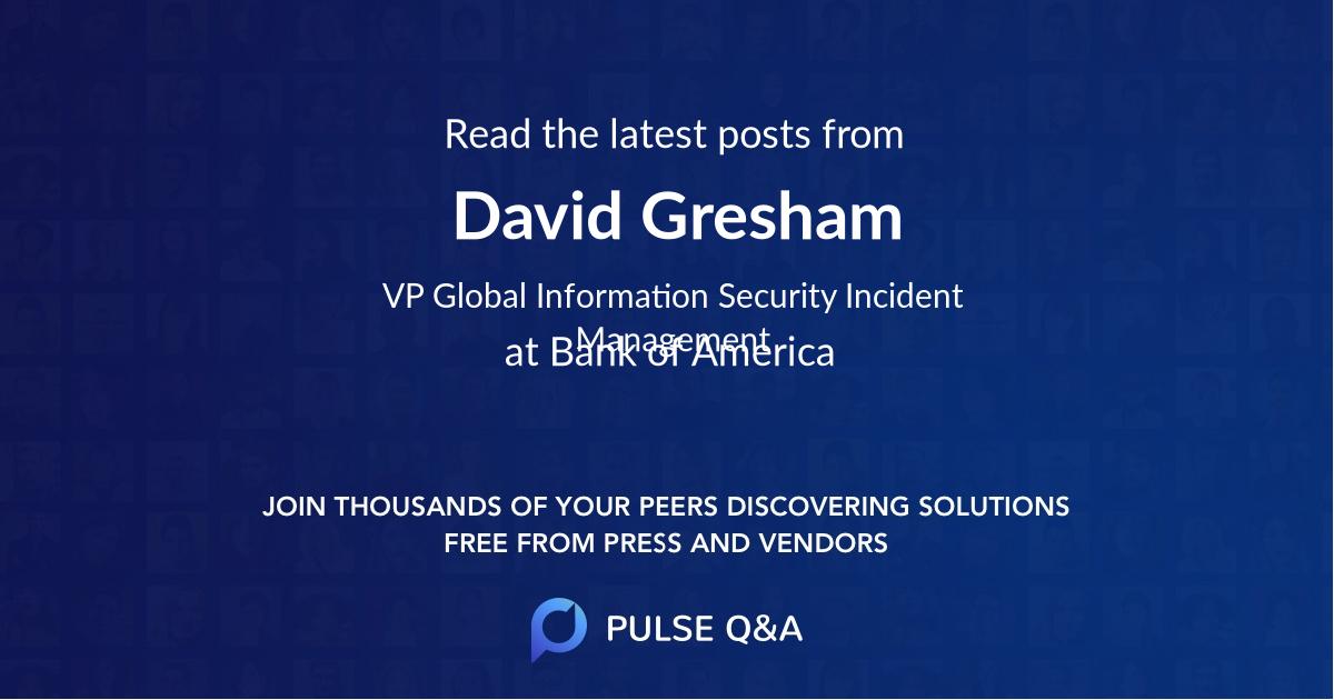 David Gresham