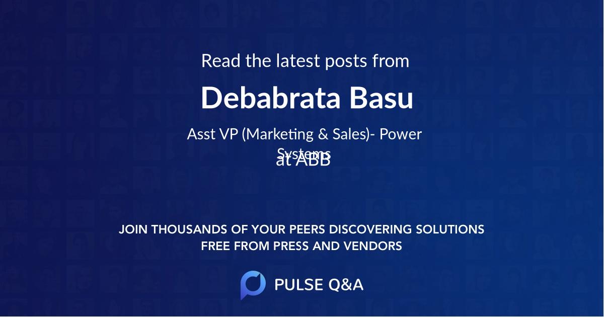 Debabrata Basu