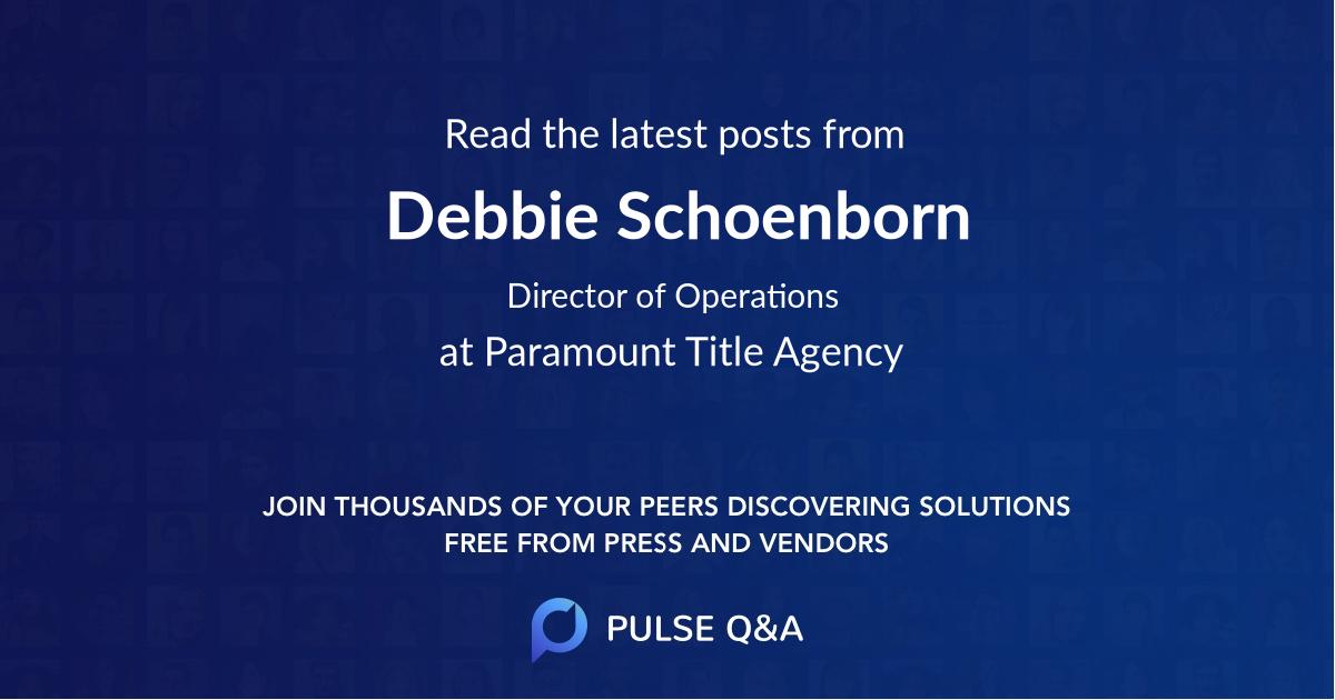 Debbie Schoenborn