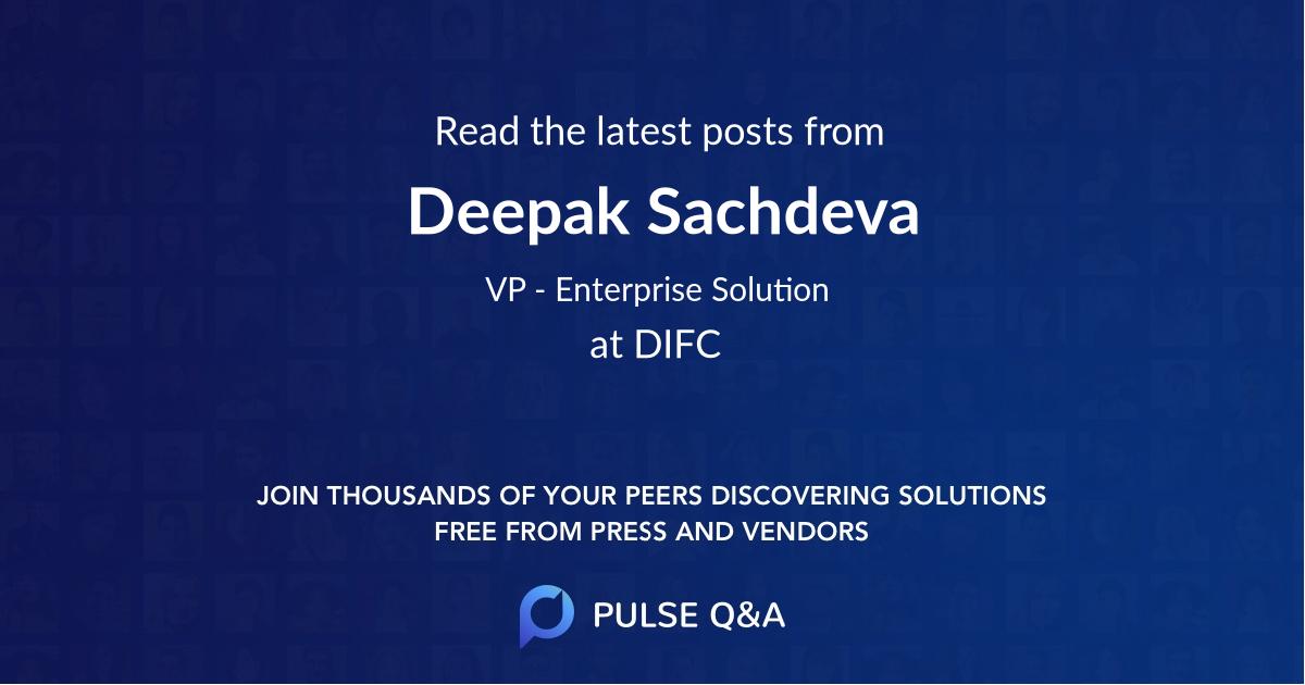 Deepak Sachdeva