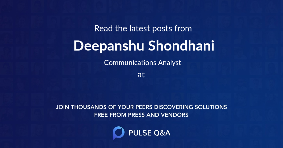 Deepanshu Shondhani