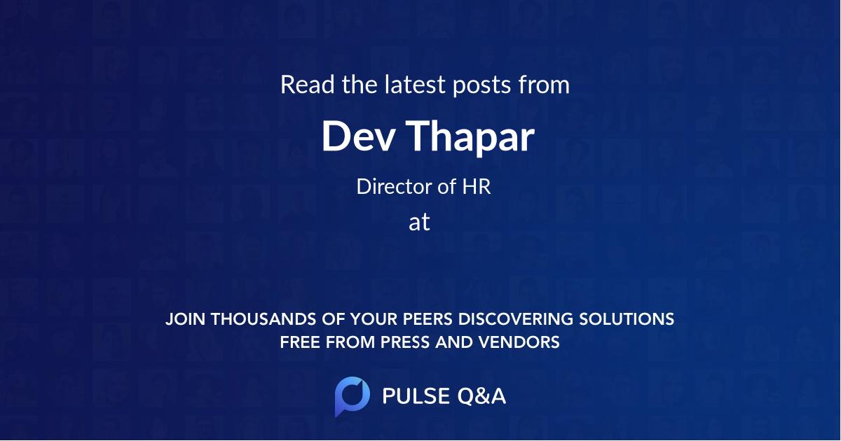 Dev Thapar