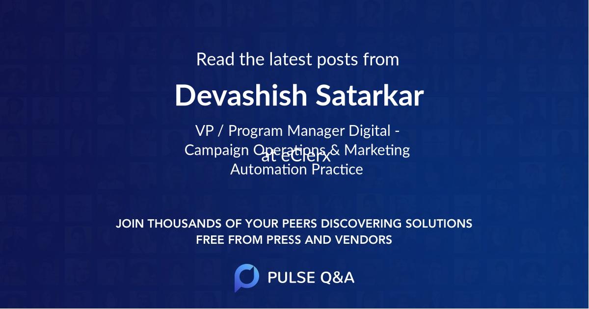 Devashish Satarkar