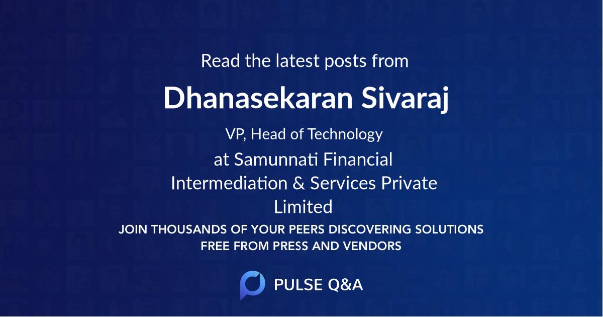 Dhanasekaran Sivaraj