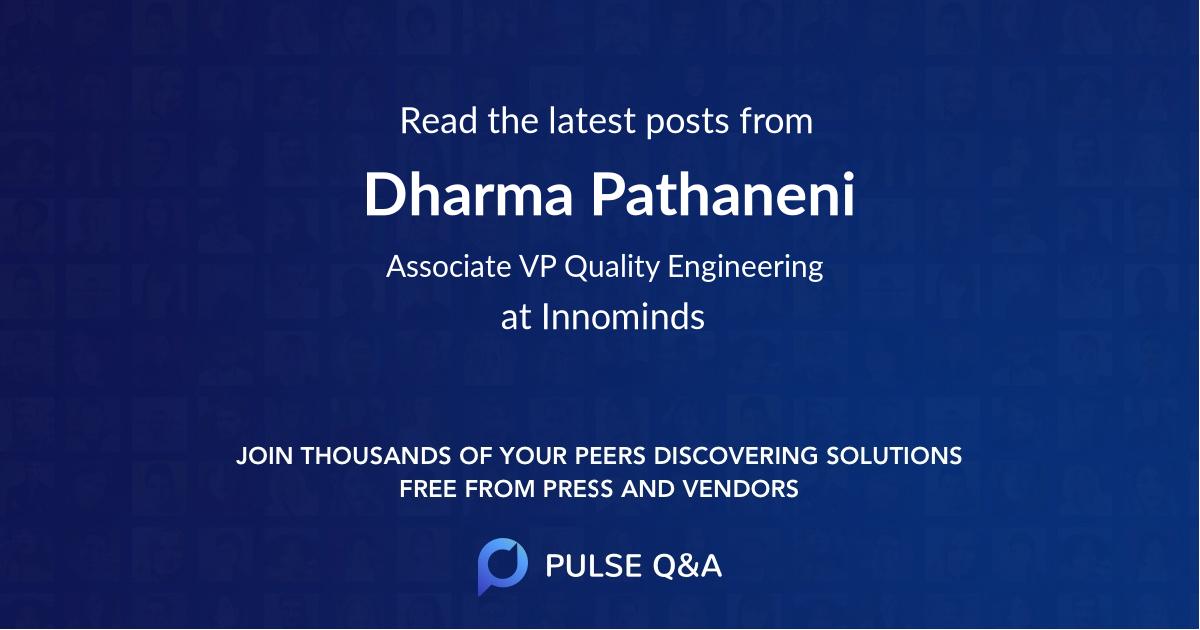 Dharma Pathaneni