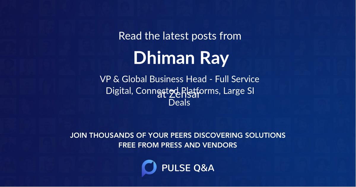 Dhiman Ray