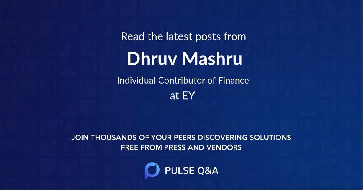 Dhruv Mashru