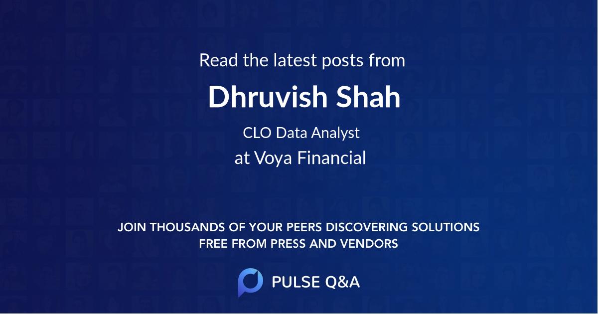 Dhruvish Shah