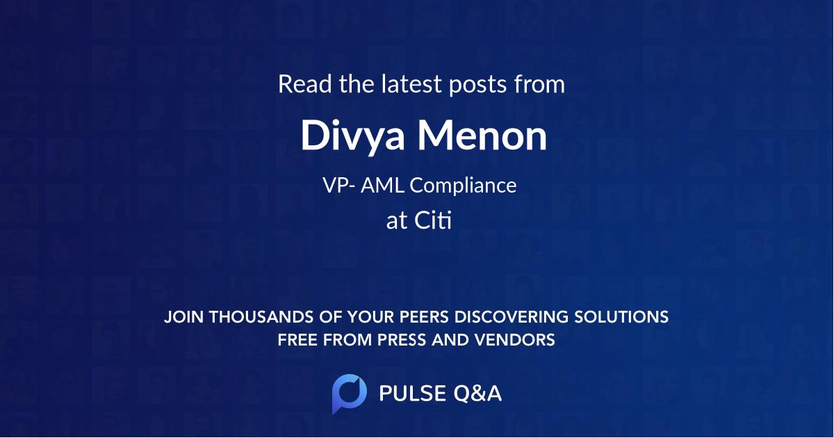 Divya Menon