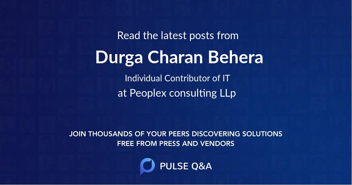 Durga Charan Behera