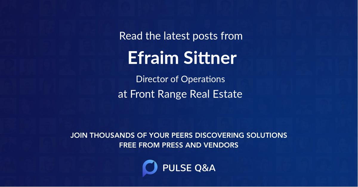 Efraim Sittner