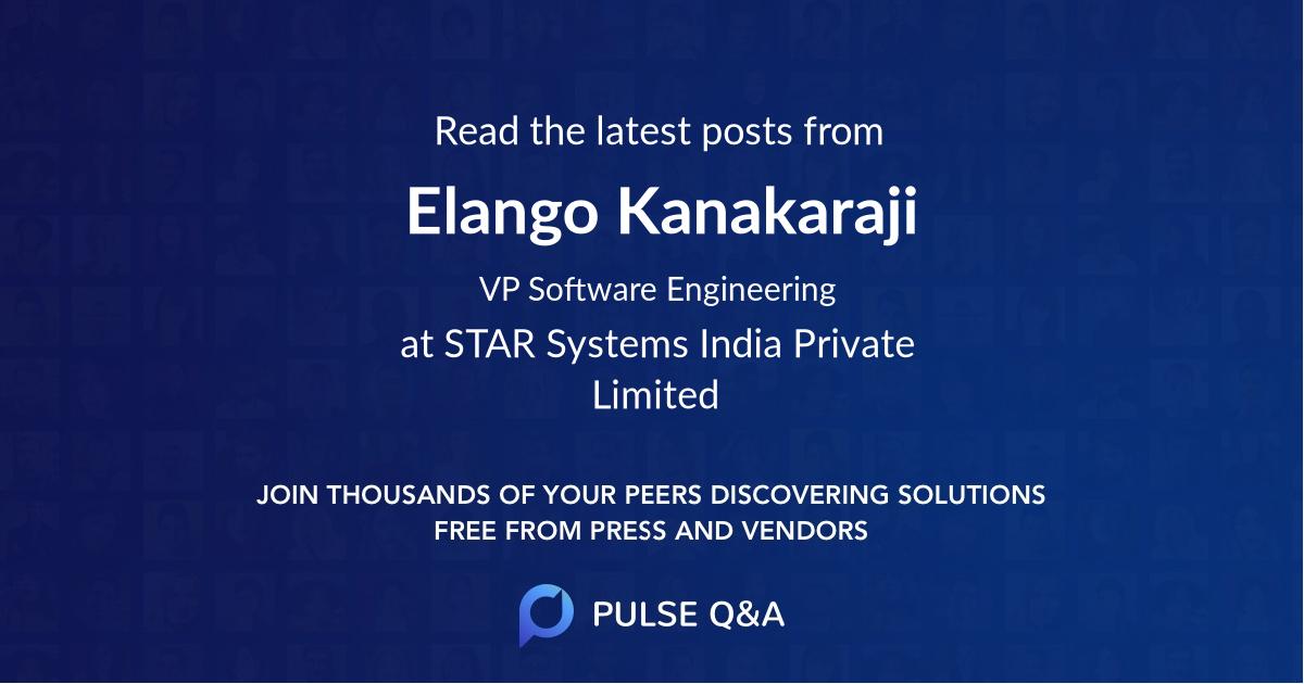 Elango Kanakaraji