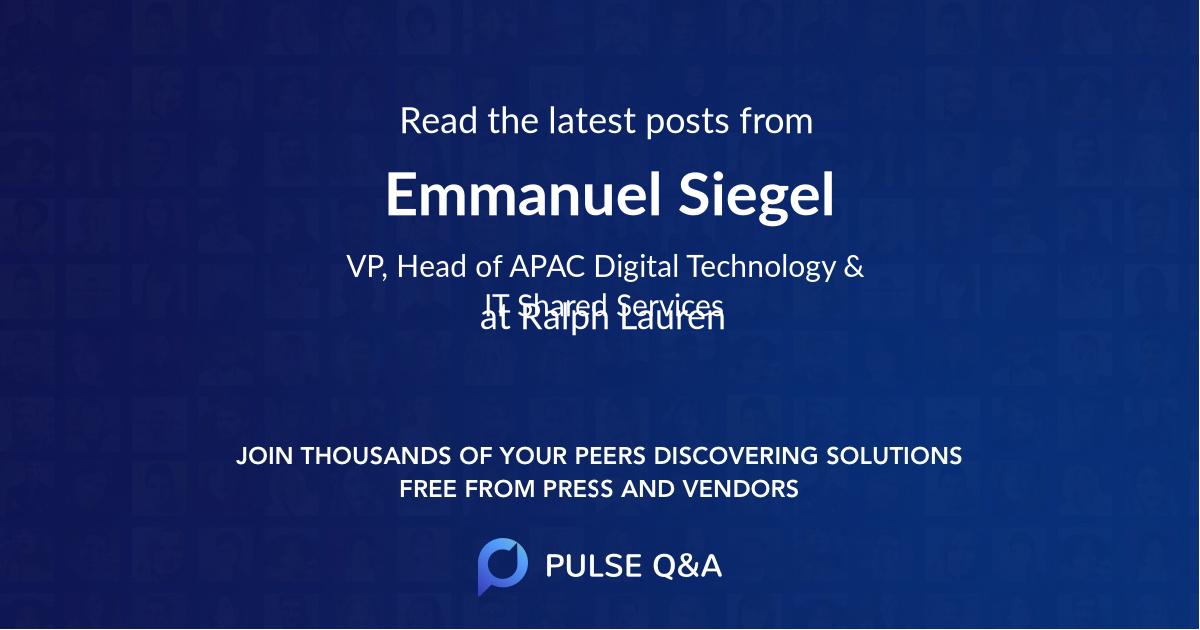 Emmanuel Siegel