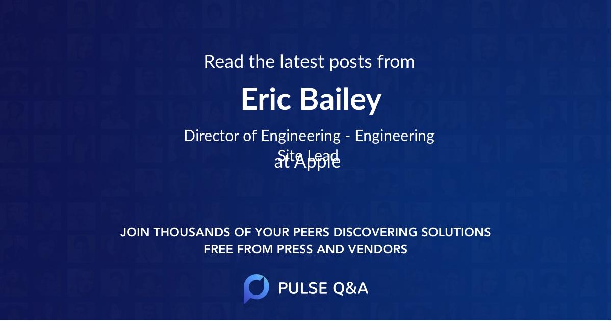 Eric Bailey