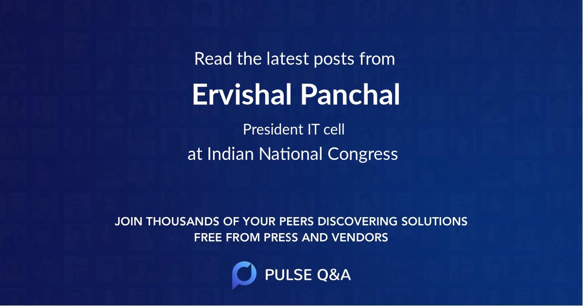 Ervishal Panchal
