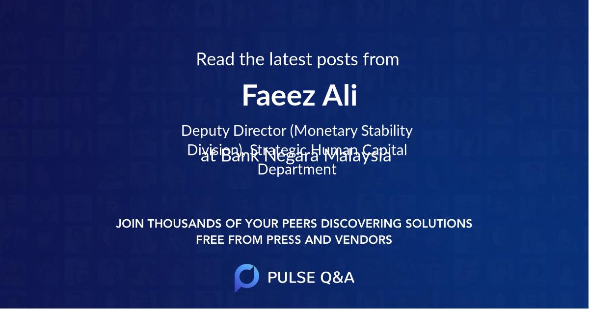 Faeez Ali