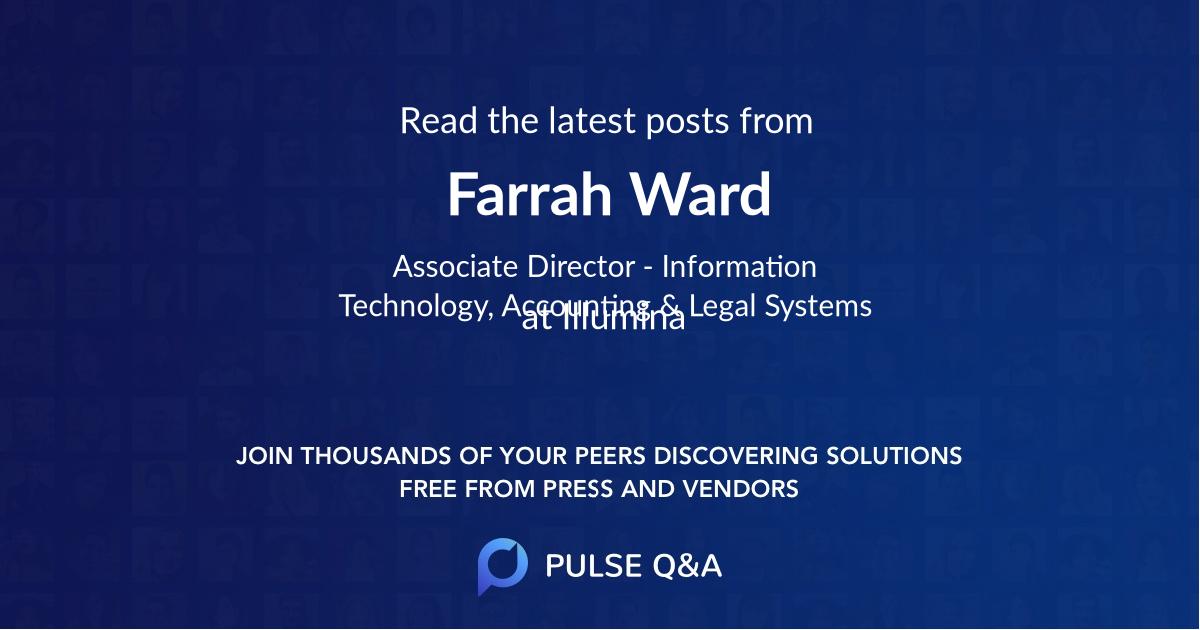 Farrah Ward