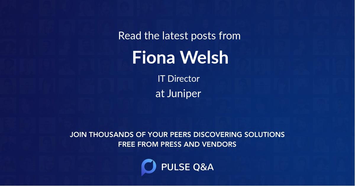 Fiona Welsh