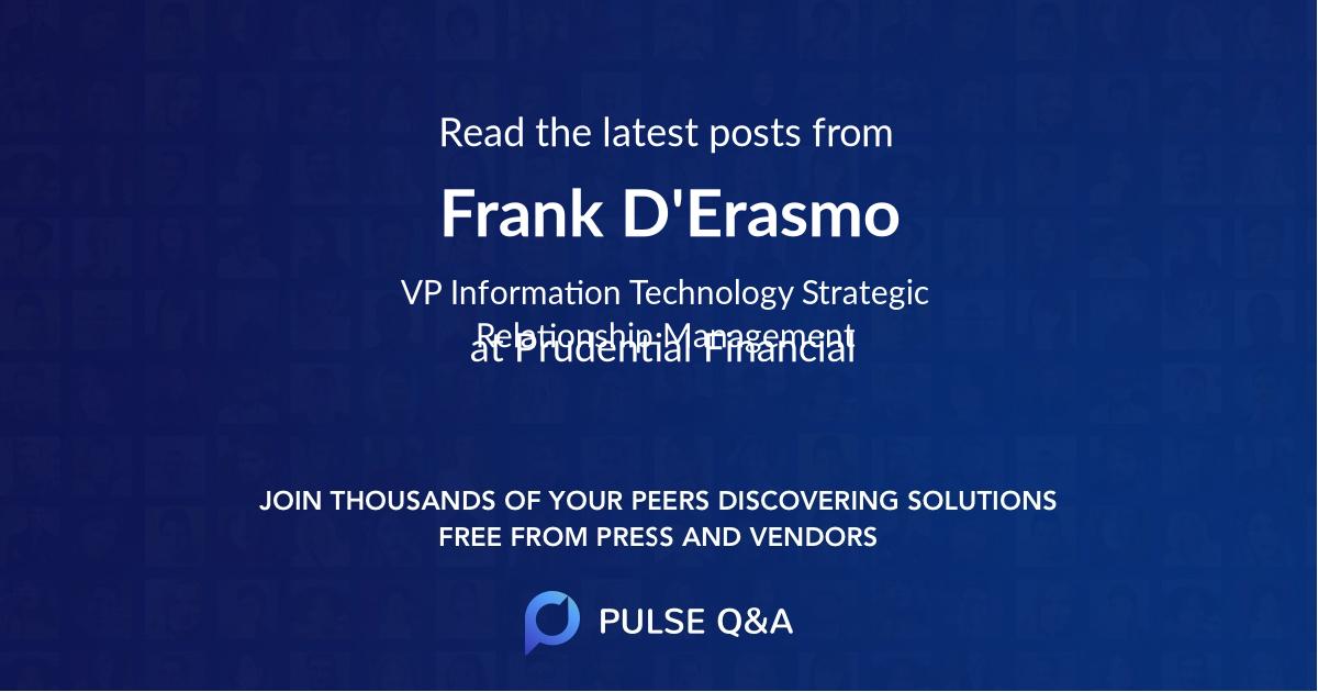 Frank D'Erasmo