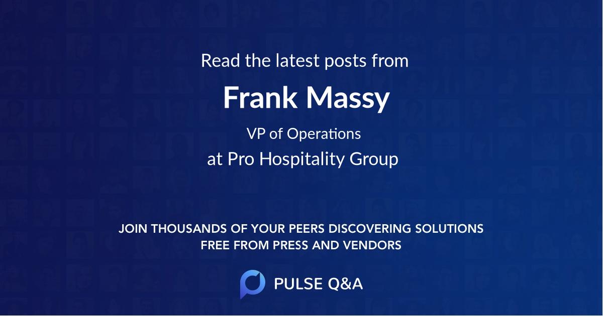 Frank Massy