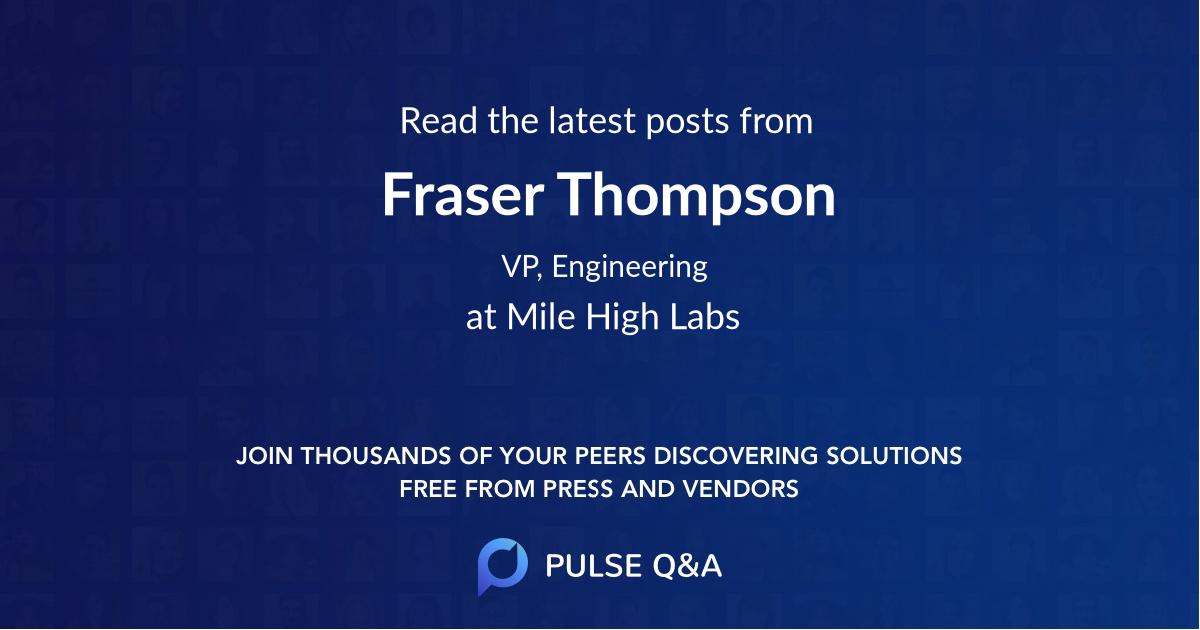 Fraser Thompson