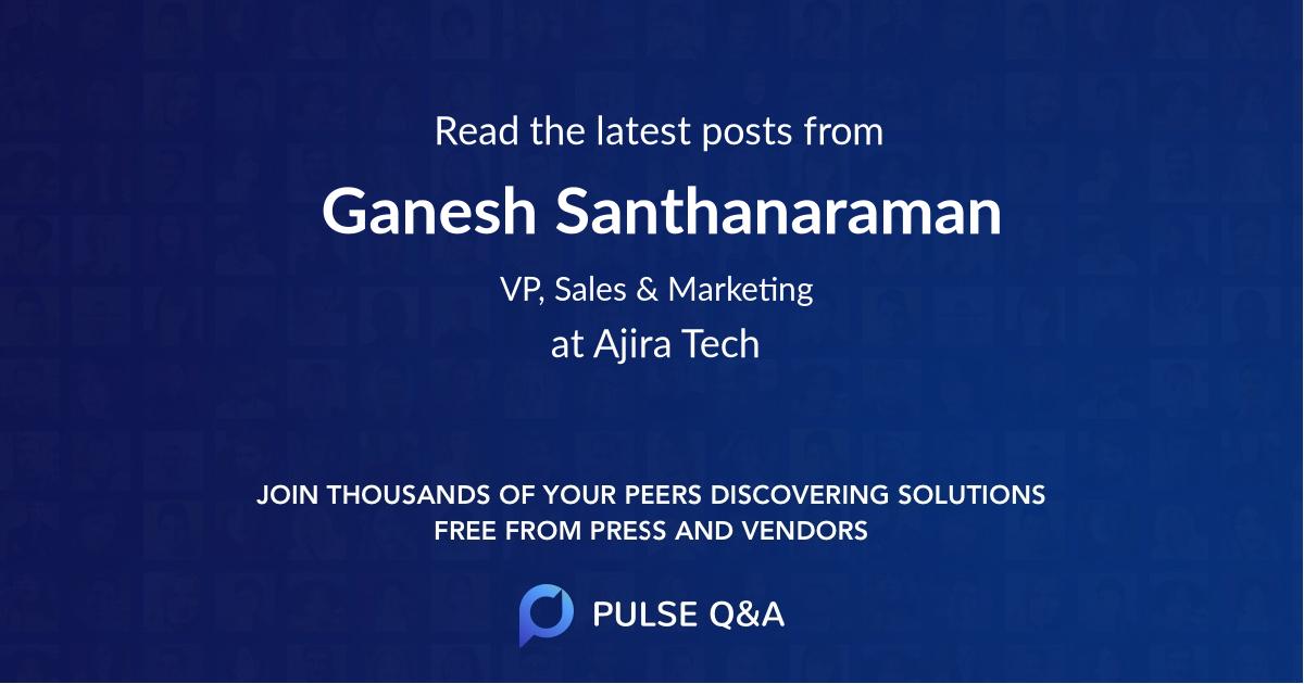 Ganesh Santhanaraman