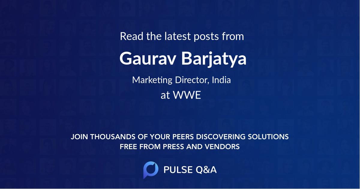 Gaurav Barjatya