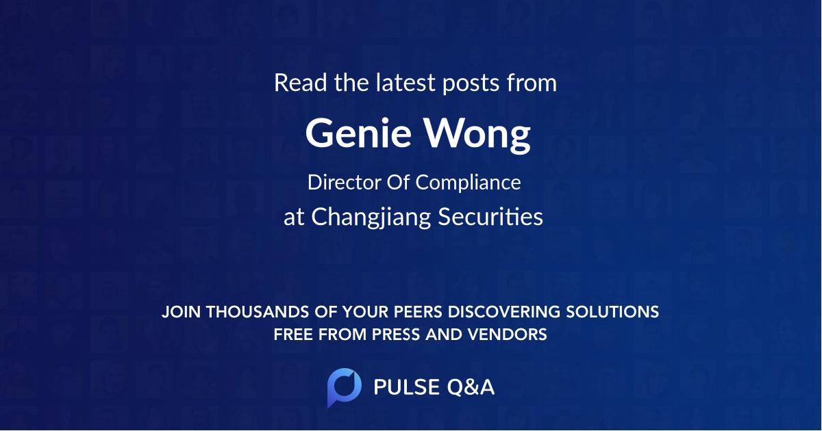 Genie Wong
